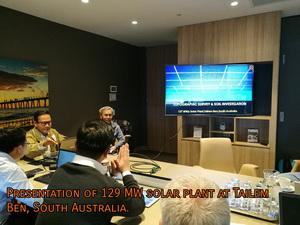 Presentation of 129 MW solar plant at Tailem ben, South Australia.